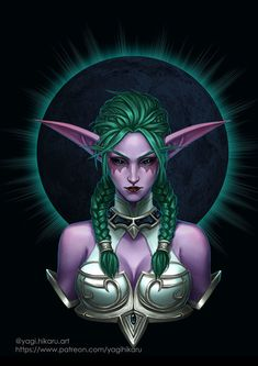 Tyrande the Night Warrior by Hikaru Yagi Freelanse illutrator and cosept, comic artist // The Horde shall tremble. as our darkness falls. We will kill them all. Art Warcraft, World Of Warcraft 3, World Of Warcraft Characters, Fantasy Characters, Race Night, Night Elf, Fantasy Women, Fantasy Art, Final Fantasy