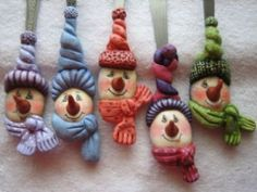 These remind me of the salt dough ornaments that my friend Carol used to make.