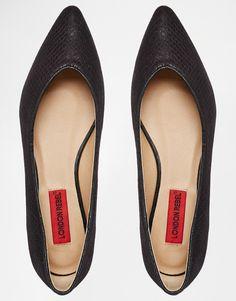 Bild 3 von London Rebel – Spitze, flache Schuhe in Schlangenlederoptik