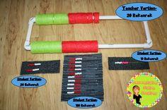 Different kinds of homemade rekenreks.  Differentiation Station Creations