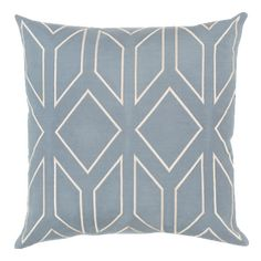 Surya Skyline Blue and Neutral Pillow Cover