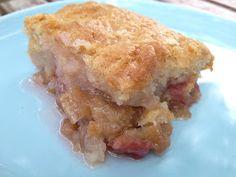Hopes Kitchen: Rhubarb Pudding Cake