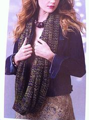 This pattern is in the Knit Style April 2014 magazine. I am making 5 scarves in the different colors above for my daughter and her three daughters and 1 for my other granddaughter. Three Daughters, To My Daughter, Lace Design, Different Colors, Scarf Wrap, Scarves, How To Make, How To Wear, Teen