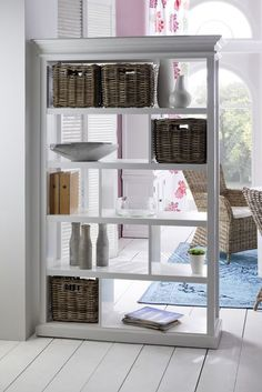 "74.8"" x 47.25"" Room Divider with Basket Set"
