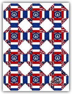 Air Force Patch Flag Military PreCut Quilt Kit