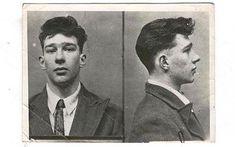 Reggie Kray's mugshot from the late 1940s