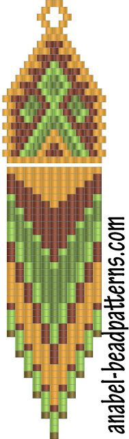 Схема сережек с бахромой