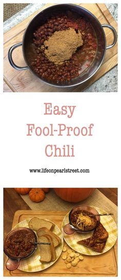 Easy fool proof chili and a Blogger's Best Chili Cook n Share.  Check out all the recipes!