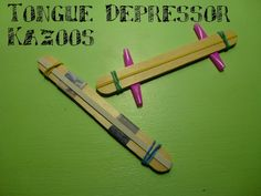 tongue depressor crafts, homemade instruments for kids, speech therapy activities for kids, green art crafts for kids, music crafts for kids...