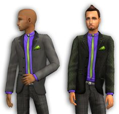 Mod The Sims - Cute Suits: Apartment Life suits with a little less flair