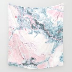 Blue And Pink Marble Wall Hanging Tapestry by Morgan S. Marble Tapestry, Tapestry Bedroom, Tapestry Wall Hanging, College Room Decor, College Dorm Decorations, Room Decorations, Marble Wall, Pink Marble