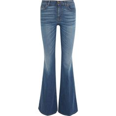 Tom Ford High-rise flared jeans (9.190 ARS) ❤ liked on Polyvore featuring jeans, pants, bottoms, tom ford, highwaisted jeans, flared jeans, tom ford jeans and high rise flare jeans