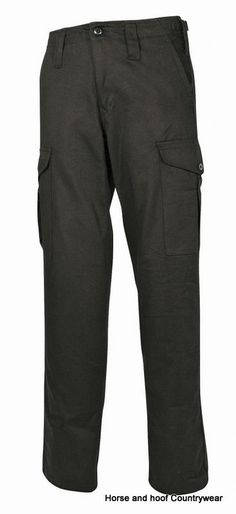 Mil-Com Heavyweight Combat Trousers - Black Our best selling trousers made using pre-shrunk 100 cotton The Mil-com trousers feature 6 pockets Zip fly