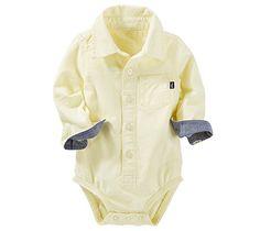 OshKosh B'gosh Baby Boys Single Bodysuit 12041910, Yellow (700), 18M