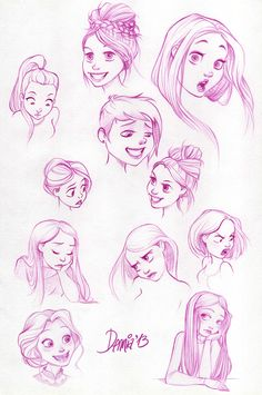 Expressions exercise by dennia on deviantART