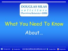 Douglas Silas Solicitors: Types of SEN