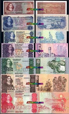 South Africa banknotes - South Africa paper money catalog and South African currency history