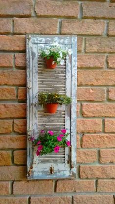 Are Plantation Shutters the Right Choice for Your Windows? – Akma Studio Are Plantation Shutters the Right Choice for Your Windows? Seu lixo é meu luxo Vertical Gardens, Small Gardens, Shutter Projects, Shutter Decor, Old Shutters, Roller Shutters, Walled Garden, Diy Planters, Garden Planters