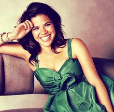 America Ferreira: Lei, or Malia from Wallflower Diaries! She has a great smile and one of those interesting faces...
