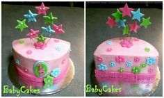 6 month old birthday cake. Half Birthday Cakes, 2nd Birthday, Birthday Ideas, Cake Creations, My Princess, Baby Shower Cakes, Kids And Parenting, First Birthdays, Cake Ideas