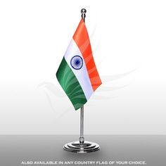 Indian miniature table flag of size x with a chrome-plated, plastic round base, staff and finial top Table Flag, How To Look Classy, Chrome Plating, Flags, Miniatures, Base, Plastic, Indian, Outdoor Decor