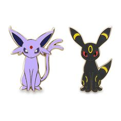 Official Espeon and Umbreon Pokémon Pins. These Evolved Eevee favorites make a great start or addition to any Pokémon Pin collection.