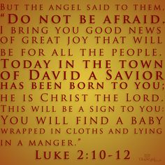 """Today in the town of David a Savior has been born to you; he is Christ the Lord."" Luke 2:11 #Christmas"