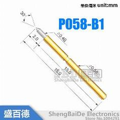 [ 20% OFF ] 100Pcs/lot P058-B1 Dia 0.4Mm Spring Test Probes Pogo Pin Length 15.0Mm (Stroke Spring Froce:70G)