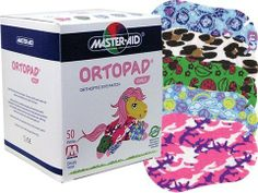 Ortopad Girls Eye Patches - Medium Size (50 Per Box) by Ortopad. $19.35. Ortopad Orthoptic Eye Patches have been helping children successfully treat amblyopia (lazy eye) for over 10 years.  Ortopad patterned patches differ from other patches in that the 5 designs in every box make patching fun.  In addition, Ortopad patches maximize comfort through a latex-free adhesive.  Simply apply the Ortopad patch and the pressure sensitive adhesive will utilize the body's own he...