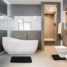 6a3e99712d3a EssentialMall Bathroom Rug Mat Set Large and Contour Bath mat Set Absorbent  Memory Foam Bath Rugs Non Slip Toilet Bathmats Carpet Black