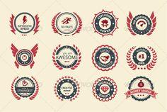 Achievement Badges Vector Template #design Download: http://graphicriver.net/item/achievement-badges/7979495?ref=ksioks