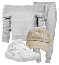 """""""Untitled #2974"""" by xirix ❤ liked on Polyvore featuring Dsquared2, Estradeur and NIKE"""
