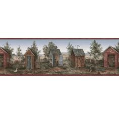 873785 Outhouse Wallpaper Border Wallpaper Borders, Borders For Paper, Miniatures, Painting, Art, Art Background, Painting Art, Kunst, Paintings