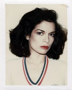 Bianca Jagger Polaroid by Andy Warhol