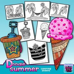 Testing is over and summer break is around the corner! And let's face it, you're going to have some time to fill during the last days before Summer break. You're going to love these Summer (beach) coloring sheets. Because each page is full of unique doodles, it takes traditional coloring to a whole new level!Feedback is always appreciated!