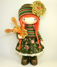 RAG DOLL Zooey made to order handmade 13 by DollsLittleAngels