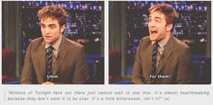 No one hates Twilight more than Robert Pattinson :D :D