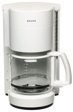 Factory-Reconditioned Krups R321-71 Pro Cafe 10-Cup Coffee Maker, White >>> See this great image  : Coffee Maker