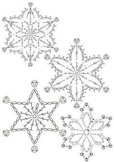 15 crochet snowflakes patterns- free patterns – Turcoaz cu Vanilie - Her Crochet Free Crochet Snowflake Patterns, Christmas Crochet Patterns, Crochet Stars, Crochet Snowflakes, Holiday Crochet, Doily Patterns, Christmas Knitting, Thread Crochet, Crochet Crafts