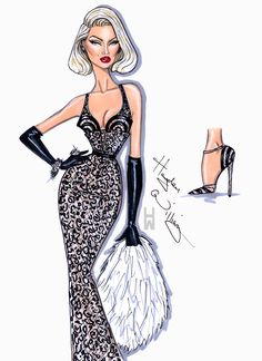 Hayden Williams Fashion Illustrations | 'Show Stopper' by Hayden Williams