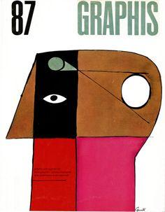Design is fine. History is mine. — George Giusti, cover for Graphis, 1959. Via sandi...