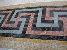 West Baden atrium mosaic tile floor