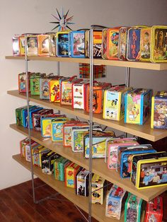 Tin Lunchbox Collection on Display