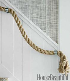 rope handrail+wallcovering