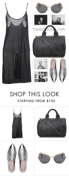 """""""ANN DEMEULEMEESTER Top"""" by thestyleartisan ❤ liked on Polyvore featuring Ann Demeulemeester, Alexander Wang and Miu Miu"""