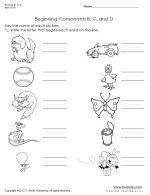 Thumbnail picture of Phonics B, C, D Worksheet Set