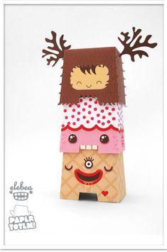 Tótem cute paper toys