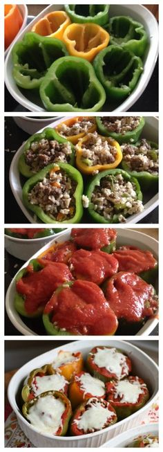 Bison and Brown Rice Stuffed Peppers from @aggieskitchen