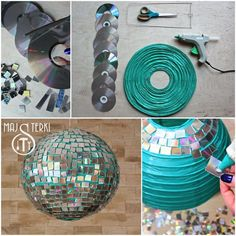 to make a disco ball? It& easy. Check out our tutorial and enjoy carn. How to make a disco ball? It's easy. Check out our tutorial and enjoy carn., How to make a disco ball? It's easy. Check out our tutorial and enjoy carn. New Years Party, Decade Party, Paper Lanterns, Party Themes, Disco Theme Parties, Party Ideas, Disco Party Decorations, Kids Disco Party, 90s Theme Party Decorations