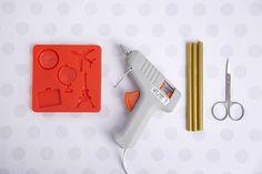Scrapbook embellishments with Mod Melts – Mod Podge Rocks